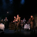Alfie Browne-Skyes (Tipper) & Simon Lloyd (Shaw) and the company of BIRDSONG. Credit Jack Ladenburg