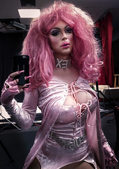 Pink seduction: selfie in the mirror (Juliapanther Over 57 million views, thanks!!!) Tags: julia panther juliapanther tgirl cd dressing costume pink velvet makeup lips lipstick glamour portrait diva goth gothic fetish choker wig hair nails