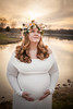 Rose Gold Sunset - Maternity (pyathia) Tags: rose gold maternity shoot flower crown peony peonies vines champagne lake park field dof depth wheat golden hour sunset white dress plus size sized maxi ohio cleveland chardon walter best wildlife