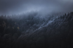 Au lac Pavin (Mathieu Noel) Tags: auvergne lacpavin puydedôme puydedome volcan craterre neige winter auvergnerhonealpes brouillard fog