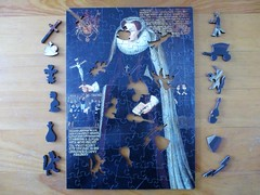 Mary, Queen of Scots [whimsies removed] (pefkosmad) Tags: wentworth wood wooden jigsaw puzzle hobby leisure pastime whimsies figurals maryqueenofscots art painting fineart portrait queen royalcollection complete secondhand used