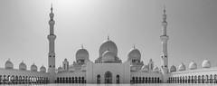 Sheikh Zayed Mosque, Abu Dhabi, UAE (Gadjowsky) Tags: monochrome blackandwhite black architecture atmosphere ambient art abudhabi uae nikon nikond5100 marble white mosque