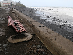 Damage to the promenade (Jackie & Dennis) Tags: lagomera vallegranrey stormdamage