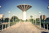 Riyadh Water Tower (Lorenzo Tombola) Tags: 1981 olympusxa riyadh saudiarabia tower water vintage ektachrome