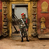 Asia / Nepal / Bhaktapur / Lu Dhoka (Golden Gate) (Pablo A. Ferrari) Tags: pabloferrariart asia nepal bhaktapur men street calle urban city nepali nepalese kathmandu valley cuidad soldier soldado gurkha ludhoka goldengate