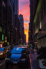 Sunset in New York (Oleg.A) Tags: square usa newyork manhattan street city outdoor evening viewpoint summer colorful interior orange design cityscape sunset yellow town architecture nyc america outdoors