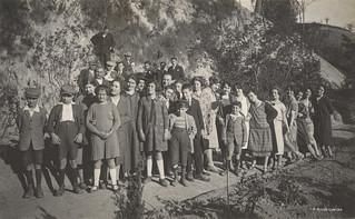 Ascoli com'era: frazione Cignano, una visita numerosa (1926)
