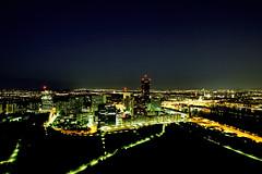 Vienna Night View (CoolMcFlash) Tags: city cityscape view landscape sky night urban light stadt städtisch aussicht landschaft himmel nacht lichter fotografie photography modern architecture architektur canon eos 60d sigma 1020mm 35