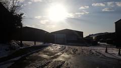 Leaving Work. Homeward Bound. (christianiani) Tags: homeward bound sundown sunset lowsun sky winter light
