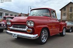 Chevrolet Apache (Monde-Auto Passion Photos) Tags: voiture vehicule auto automobile chevrolet apache pickup red rouge sportive ancienne classique rare rareté rassemblement evenement france courtenay