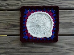 """A crochet square being rehabbed for inclusion in """"The World's Biggest Crochet Blanket"""" (crochetbug13) Tags: crochet crocheted crocheting crochetbug crochetsquares grannysquares crochetblanket crochetafghan crochetthrow"""