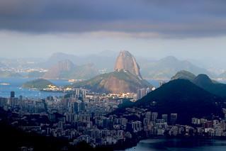 Dark clouds over Rio de Janeiro!