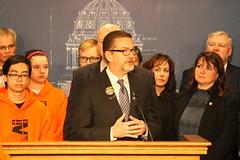 Senator Dibble at Press Conference to Address Gun Violence