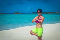 Amanda practicing yoga.