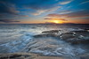 Water rush at Sunset (PeterYoung1.) Tags: atmospheric beautiful blue colours clouds highlights landscape nature ocean orange rocks scenic scotland seascape sea sunset scottish peteryoung1 troon uk water