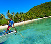 Man at work (Genylend) Tags: asia philippines palawan people nipa coron clearwater coconuttree boat boattour tourist moon mountain wild plants