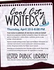 Cool City Writers (Lester Public Library) Tags: lesterpubliclibrary lpl librariesandlibrarians library libraries lesterpubliclibrarytworiverswisconsin libslibs libraryprogram 365libs writer writers writing writingclub coolcitywriters tworiverswisconsin wisconsinlibraries readdiscoverconnectenrich
