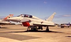 Royal Air Force 100 (crusader752) Tags: raf100 royalairforce no29rsquadron baesystems typhoon t2 zj808bg rnasculdrose 2005 airday fastjet fighter trainer tornado f3 jetprovost