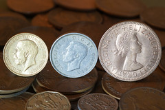 MM - £sd (Julian Chilvers) Tags: macro macromondays backintheday pound shilling sovereign gold silver copper penny