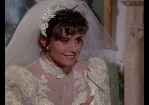 "Courteney Cox in Wedding Gown, Murder She Wrote, ""Death Stalks the Big Top,"" 1986"