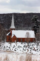 Bishop Stewart Memorial of the Holy Trinity Anglican Church (pegase1972) Tags: qc québec quebec canada église church estrie easterntownships anglican frelighsburg cemetery cimetière graveyard tomb tombstone grave snow hiver neige winter cold frozen licensed exclusive getty explore explored