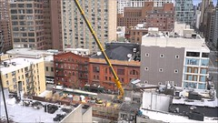 Moxy Hotel Time Lapse (Michael.Lee.Pics.NYC) Tags: newyork timelapse video eastvillage moxyhotel websterhall construction crane delivery architecture sony a6500 zeissloxia21mmf28