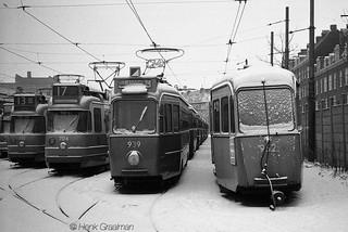 Trams in de Sneeuw
