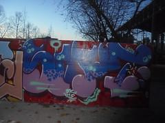 106 (en-ri) Tags: smot otk tiè crew old toyz klan parco dora blu lilla torino wall muro graffiti writing