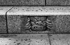 Detail at Mitake jinja (tokyobogue) Tags: tokyo japan hiking nikon nikond7100 d7100 sigma sigma1750mmexdcoshsm mountain mountains mitakesan odakesan nokogiriyama mitakejinja mitakeshrine shrine blackandwhite blackwhite monochrome