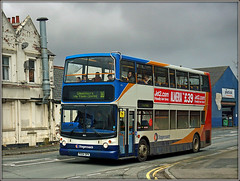 Stagecoach 18153, Cattlemarket Road (Jason 87030) Tags: 10 18153 doubledecker stagecoach bus northants northampton town cattlemarkettoad japanese uk england windows wheels alx400 px04dpk midlands dennis trident buses service route ten april 2018 people passengers busy scene shot