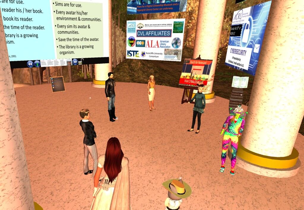 a9ee2fbd29a8 CVL Exhibit at VWBPE 18 (lyrlobo) Tags  npc vwbpe vwbpe18 secondlife  virtualworlds education