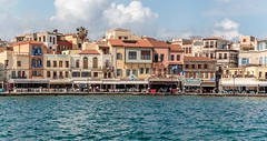 Along the waterfront (PhredKH) Tags: canonphotography fredkh photosbyphredkh phredkh splendid chania crete waterfront water blue sky buildings architecture people bars restaurants islandofcrete travelphotography ef70200mmf28lisiiusm 70200mm canoneos7dmarkii peoplewatching clouds