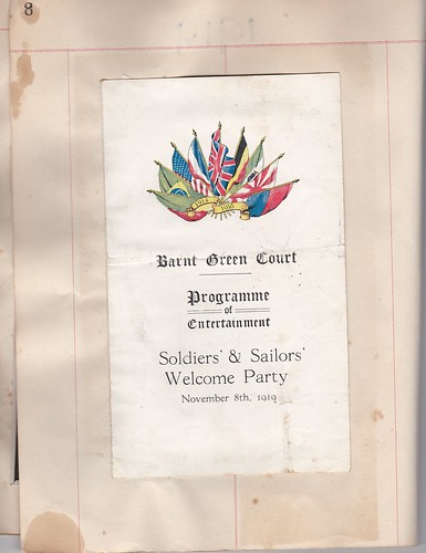 1919: welcome home programme 1