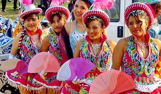 Bolivianas de fiesta