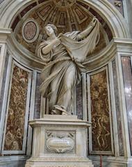Statue des Hl. Veronika (Markus Wollny) Tags: city vatikan rom cittàdelvaticano vatikanstadt it