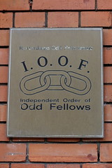 IOOF (Independent Order of Odd Fellows) plaque