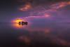 sunset 9212 (junjiaoyama) Tags: japan sunset sky light cloud weather landscape orange purple color lake island water nature winter calmness reflection