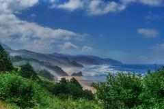 Oregon Coast-- Canon Beach Area (Thaiexpat) Tags: seascape water tree sea forest sky mist landscape oregon sonya7rii 24mm240mm