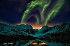 Under a Green Sky (Yan L Photography) Tags: lofoten lofotenislands northern lights green aurora reine nightphotography yanphotography yanlphotography