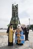 Expedition 55 Soyuz Blessing (NHQ201803200002) (NASA HQ PHOTO) Tags: expedition55preflight baikonurcosmodrome expedition55 baikonur roscosmos russianorthodoxpriest kaz kazakhstan nasa joelkowsky