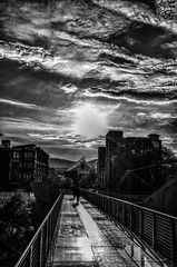 """Staring At The Sun"" - U2 (Roland 22) Tags: starburst reflection flickr blackandwhite clouds sun tennesseeaquarium bluffviewartdistrict theglassbridgechattanooga walnutstreetbridge chattanoogatennessee"