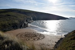 A sand circle of the universe at a heavenly spot (karen leah) Tags: sandcircle equinox spring earth spiritual transient mwnt ceredigion sand nature natural outdoors coast sea living festival marctreanor march impermanence change tides sacredgeometry ha