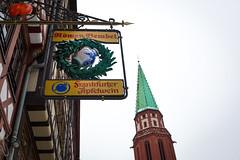 Church and Apfelwein (Sam García GA.) Tags: frankfurt germany europe apfelwein bar restaurant tradition cider wine wein