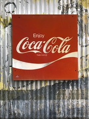 Coca-Cola Sign (Mabry Campbell) Tags: washingtoncounty 2018 texas countryside usa iphone image photo mabrycampbell sign cocacola brand red fav10