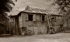 old house (Plamen Troshev) Tags: old wood house explore home santa lucia grass green sepia black white exterior art
