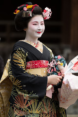 Beautiful (byzanceblue) Tags: 八坂神社 宮川町 京都 gion maiko japan kyoto japanese dance woman girl female cute lovely beautiful beauty 舞妓 舞踊 geisha kimono traditional miyagawacho geiko kanzashi formal 祇園 black 花街 white color colour flower nikkor background people photo d850 portrait summer professional lady lovery 芸妓 着物 bokeh 節分 河よ志 red fukuya traditonal