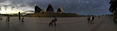 2018 Sydney Opera House and Harbour Bridge Panorama #2 (dominotic) Tags: 2018 smileonsaturday twogether sydneyoperahouse sydneyharbourbridge iphone8 people operahousesails sunset history architecture australianicon sydneyharbour panorama nsw sydney australia
