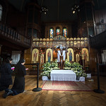 """GREAT AND HOLY FRIDAY Vespers with the laying of the Epitaphios (""""plashchanytsia"""") in Ukrainian Catholic Cathedral of the Holy Family in London thumbnail"""