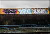 Tris / Take / Rowe (Alex Ellison) Tags: tris take dds ac rowe southlondon urban graffiti graff boobs trackside railway