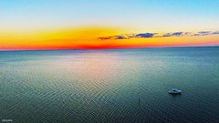 Aerial View Of Boating At Stunning Sunset Tampa Bay Florida - IMRAN™ (ImranAnwar) Tags: aerial blessings boating boats clouds dji drones dusk florida flying horizon imran imrananwar lifestyle ocean phantom4 sailing sea seaside sky sunset tampabay water